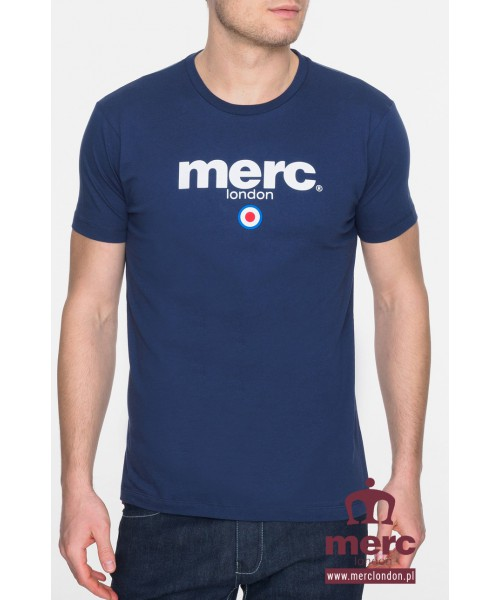 T-shirt MERC LONDON Brighton Granatowy