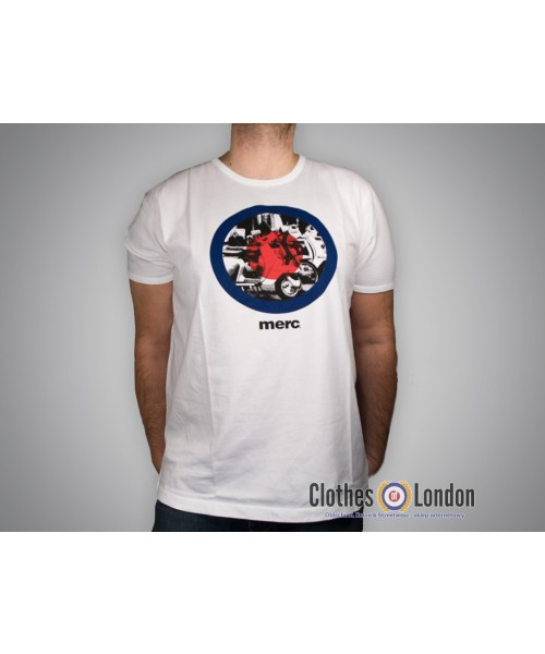 T-shirt Merc London Hamond Granville Biała