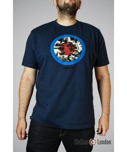 Koszulka męska Merc London Granville Granatowa