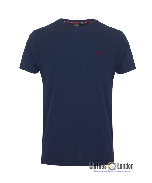 T-shirt Merc London Keyport granatowy