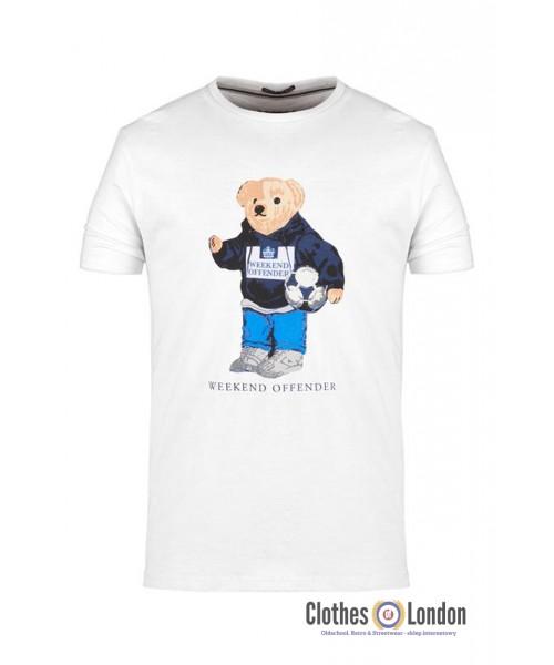 T-shirt WEEKEND OFFENDER BEAR Biały