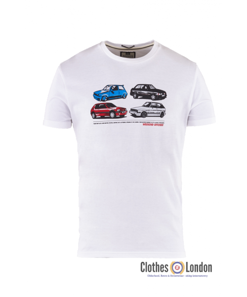 T-shirt WEEKEND OFFENDER CARS Biały