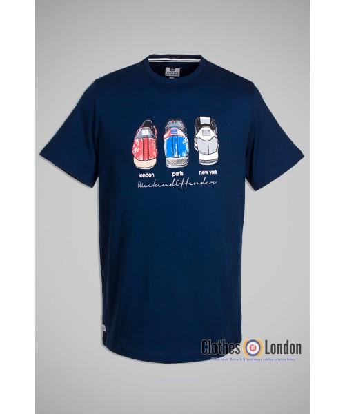 T-Shirt Weekend Offender Heels Granatowy