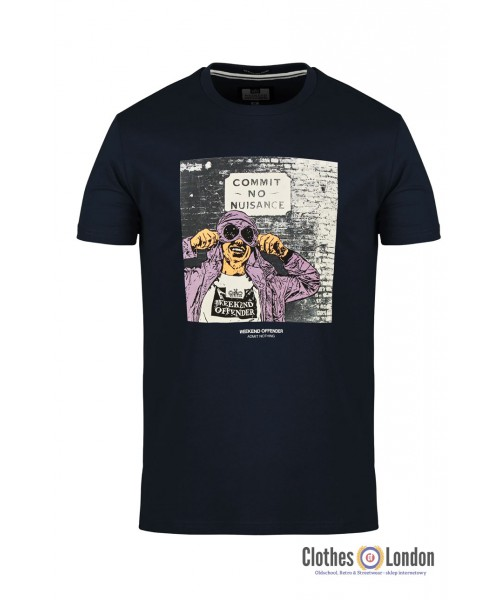 T-shirt WEEKEND OFFENDER NUISANCE granatowa