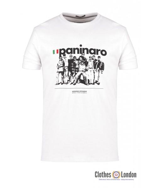 T-shirt WEEKEND OFFENDER PANINARO biała