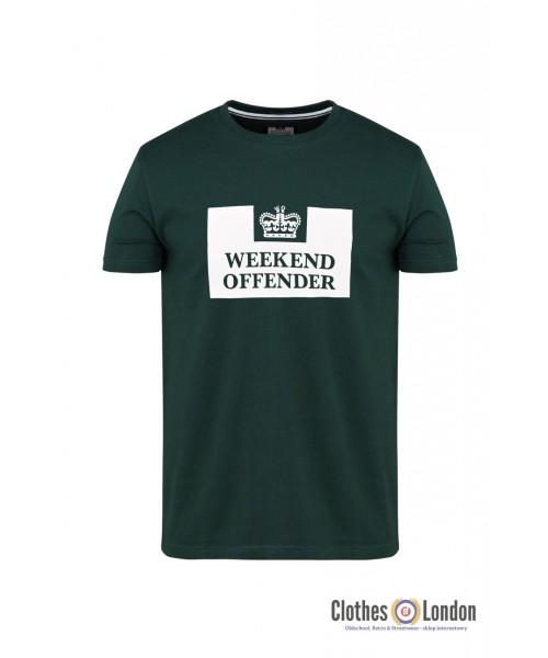 T-shirt WEEKEND OFFENDER PRISON Ciemnozielona