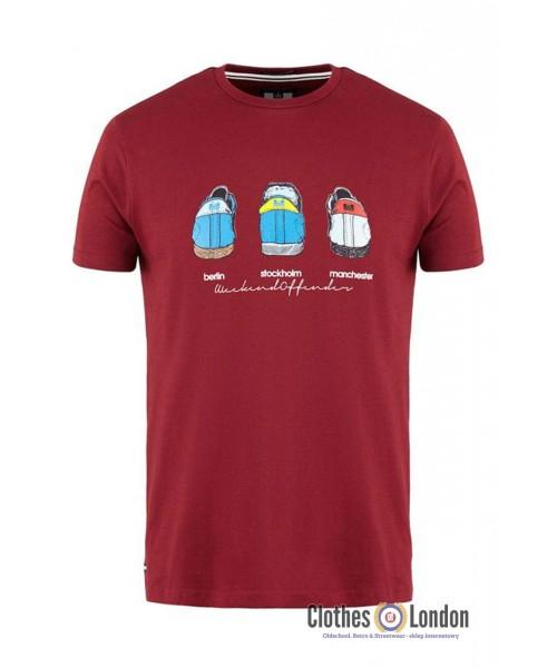 T-Shirt WEEKEND OFFENDER HEELS Bordowy