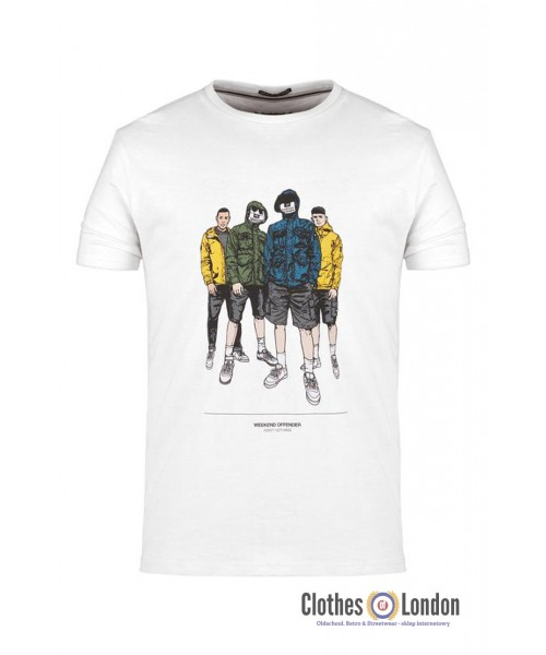 T-shirt WEEKEND OFFENDER LEO SALVATORE Biały