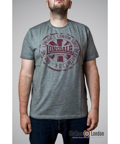 T-Shirt LONSDALE LONDON HAWES szary