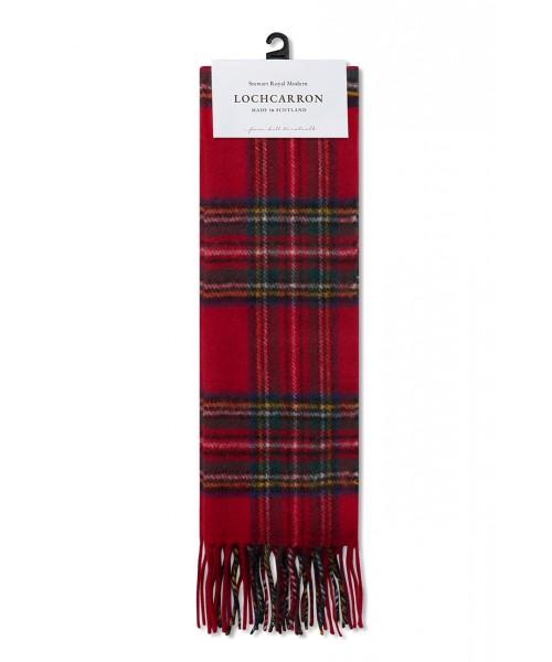 Wełniany szalki w szkocką kratkę MERC LONDON & Lochcarron WOOL Czerwony