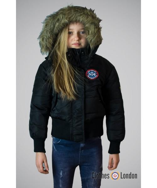 Zimowa kurtka dziecięca N2B Alska Max Fuchs Czarna