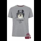 T - Shirt MERC LONDON BOWIE BULLDOG Szary