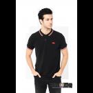 Koszulka Polo HARRINGTON czarna, biało czerwone paski