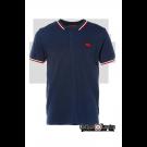 Koszulka Polo HARRINGTON granatowa, biało czerwone paski