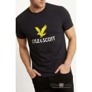 T-Shirt LYLE & SCOTT NEW LOGO Czarna