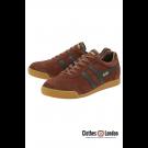 Zamszowe buty GOLA HARRIER CASUAL TRAINERS brązowo-czarne