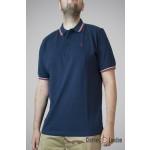 Koszulka Polo Merc London Card Granatowa Biało/Czerwone paski