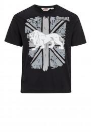 T-Shirt LONSDALE LONDON PAISLEY czarny