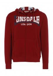 Rozpinana bluza z kapturem LONSDALE LONDON WATLINGTON czerwona