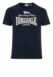 T-shirt LONSDALE LONDON SPORTING CLUB granatowy