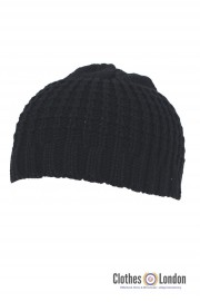 Bawełniana czapka zimowa BEANIE MAX FUCHS Max czarna