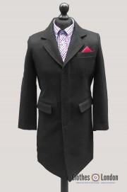 Płaszcz CROMBIE RELCO 3/4 Overcoat Czarny