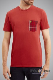 T-Shirt LYLE & SCOTT POCKET czerwony