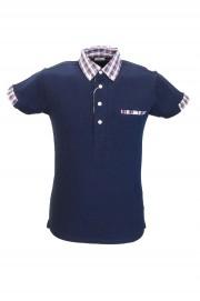 Koszulka polo RELCO LONDON Check Collar granatowa