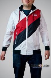 Kurtka Lonsdale London Arnold czerwono-biała