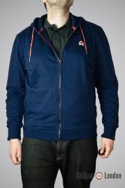 Rozpinana bluza z kapturem Merc London Stanley Granatowa