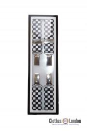 Szelki Made in England RELCO LONDON w szachowicę