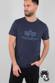 T-shirt ALPHA INDUSTRIES BASIC granatowy
