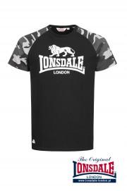 T-shirt LONSDALE LONDON KENSINGTON czarny