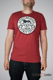 T-shirt Lonsdale London Wrotham Bordo