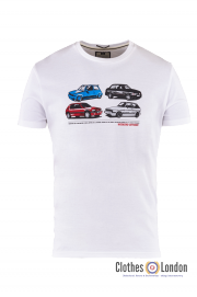 T-shirt WEEKEND OFFENDER CARS Biały