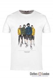 T-shirt WEEKEND OFFENDER LEO SALVATORE Biały