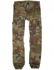 Spodnie bojówki SURPLUS BAD BOY PANTS woodland