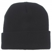 Bawełniana czapka zimowa MAX FUCHS czarna