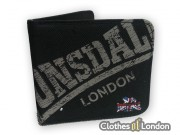 Portfel Lonsdale London Vintage Logo Czarny