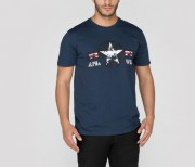 T-shirt ALPHA INDUSTRIES USAF T granatowy