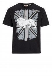 T-Shirt LONSDALE LONDON PAISLEY czarny