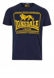 T-Shirt  LONSDALE LONDON HOUNSLOW granatowy