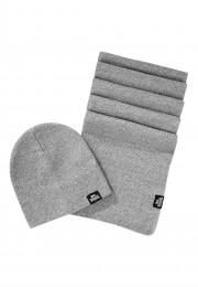 Zestaw czapka zimowa i szalik LONSDALE LONDON LEAFIELD szary