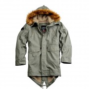 Parka ALPHA INDUSTRIES HOODED FISHTAIL III WMN oliwkowa