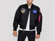 Kurtka ALPHA INDUSTRIES MA 1 VF NASA czarna