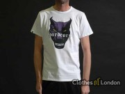 T-shirt 100% Hardcore Dog Biały