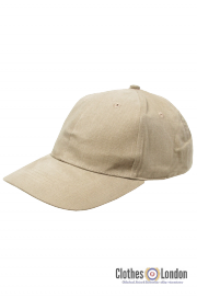 Bawełniana czapka z daszkiem BEJSBOLÓWKA MAX FUCHS Beżowa