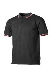 Koszulka polo MAX FUCHS Streifen z biało / czerwonymi paskami