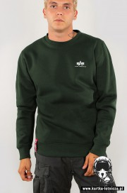 Bluza ALPHA INDUSTRIES BASIC SMALL LOGO Ciemnozielona