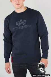 Bluza ALPHA INDUSTRIES BASIC SWEATER Granatowa 2